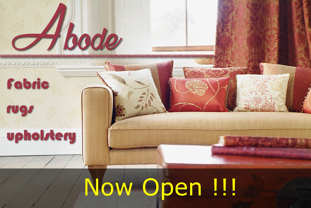 Abode home fabric rugs and upholstery